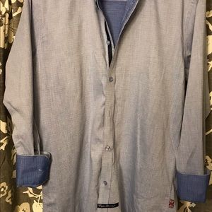 English Laundry  Button Down Blue 15 1/2 x 34/35